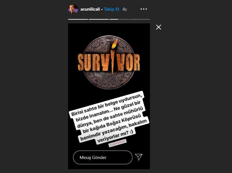 Survivor 2020'nin gerçek şampiyonu Barış mı? Acun Ilıcalı'yı kızdıran iddia!