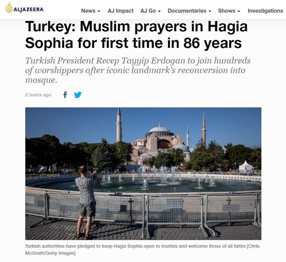 86 yıl sonra Ayasofya'daki ilk cuma namazı dünya basınında!