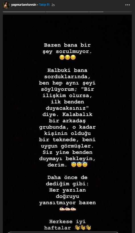 Murat Kazancıoğlu'nun teknesinde görüntülenen Yağmur Tanrısevsin' den açıklama!
