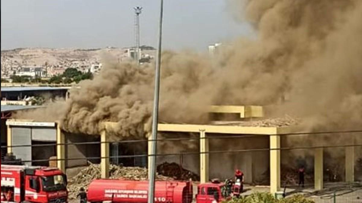 Şanlıurfa'daki bir ekmek fırınında çıkan yangının ardından patlama meydana geldi