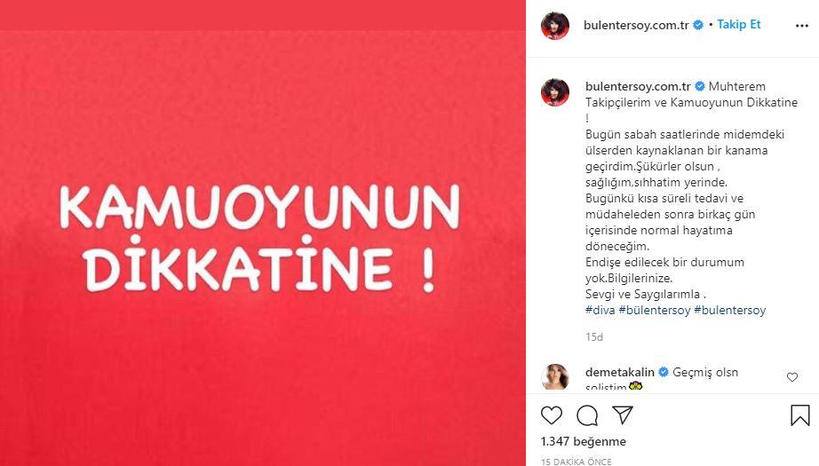 Türk müziğinin divası Bülent Ersoy hastaneye kaldırıldı!