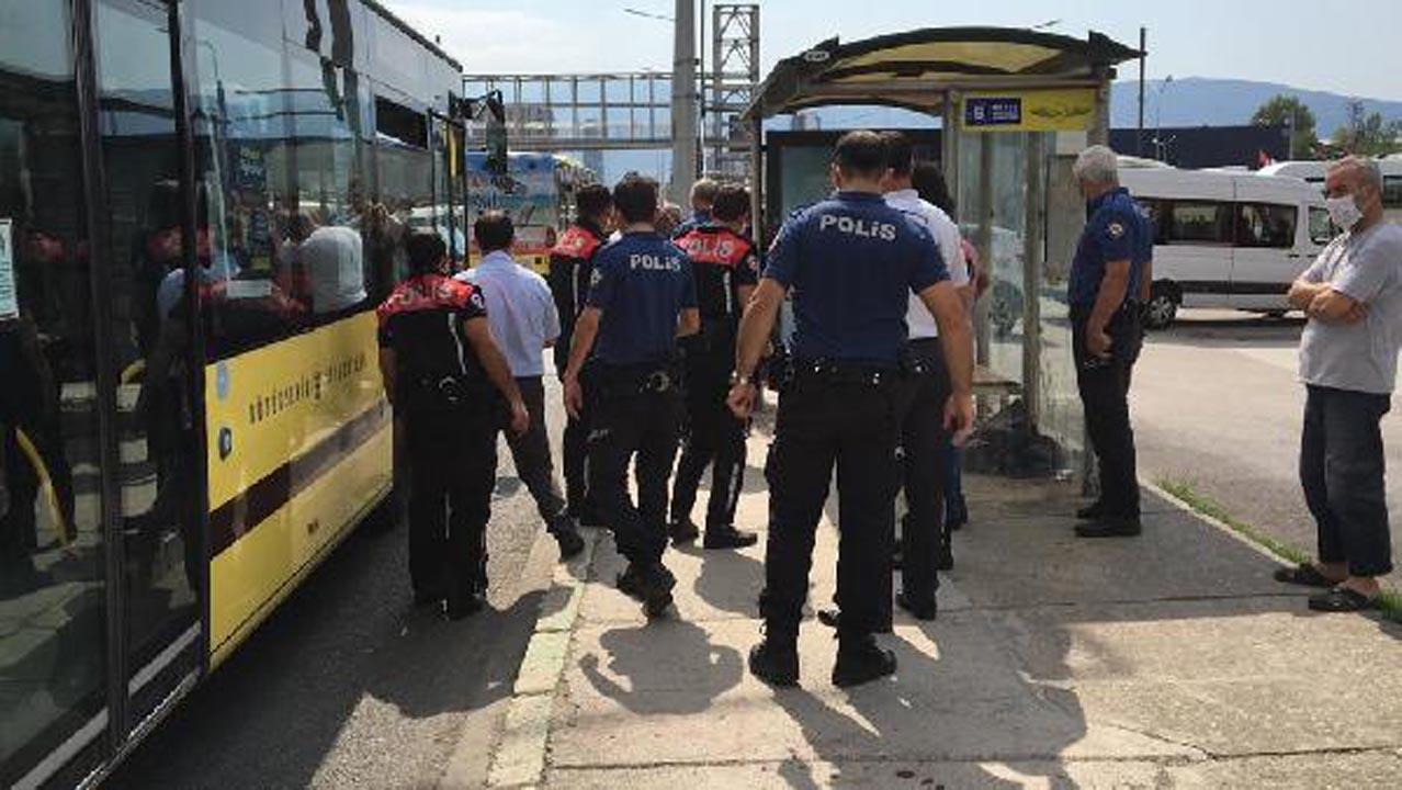 Otobüsü şoförü, maske takmayan yolcuyu bıçakladı