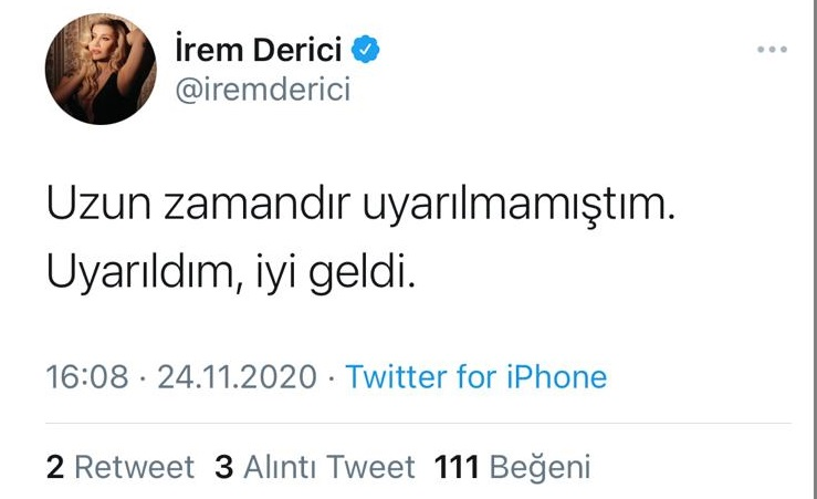 İrem Derici, RTÜK'ün uyarısını ti'ye aldı!
