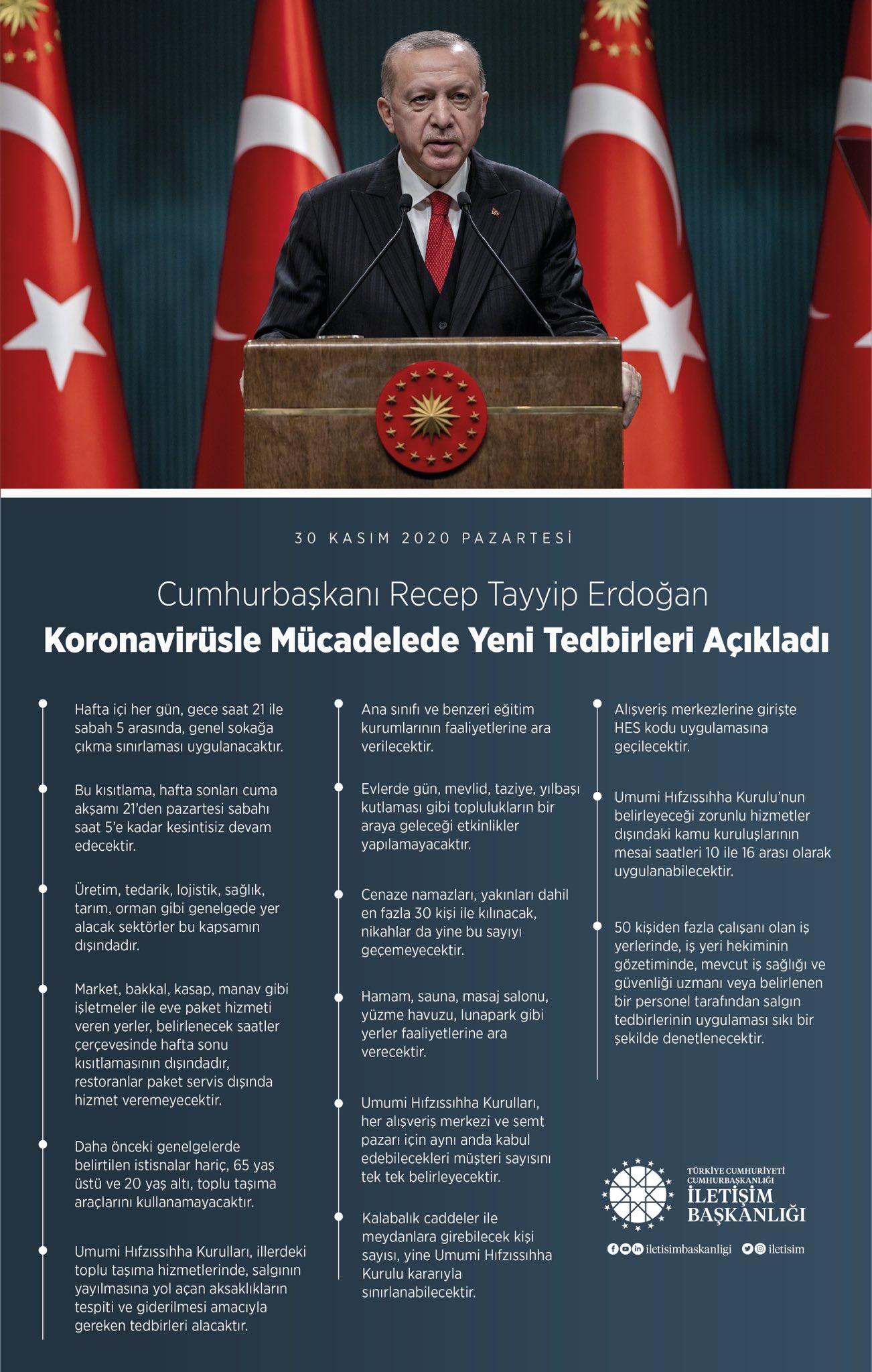 Cumhurbaşkanı Erdoğan açıkladı! Sokağa çıkma yasağı genişledi! İşte detaylar...