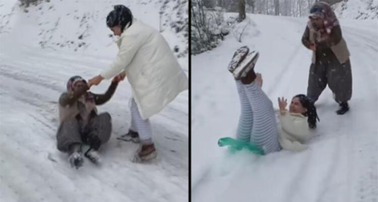 Hanife Gürdal ve ailesinin yaşadığı talihsiz kaza! Kar keyfi hastanede bitti
