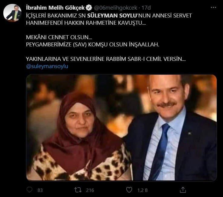 İçişleri Bakanı Süleyman Soylu acı haberle yıkıldı! Annesi Servet Soylu hayatını kaybetti