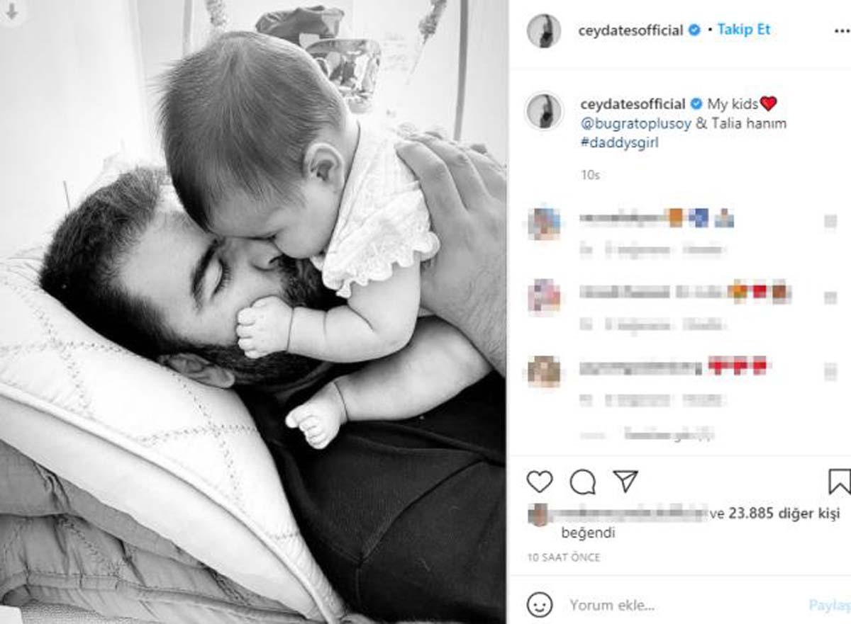Ceyda Ateş'in 4 aylık kızı babasının kopyası!